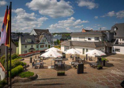 Aussenbereich des Restaurant Roemerterrasse in Ransbach-Baumbach