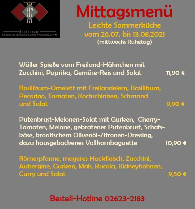 Wochenkarte Römerterrasse