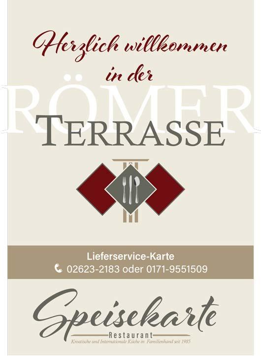 Lieferkarte Römerterrasse Restaurant
